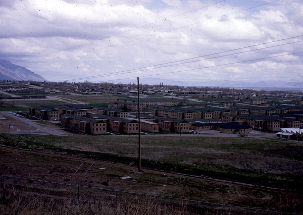 A view of the campus, likely 1960s.