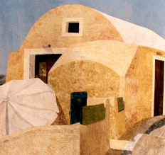 Close-up of The Sentry of Santorini Island