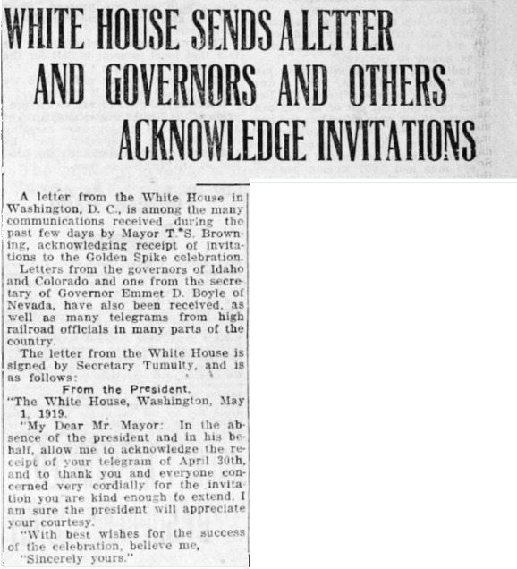 White House News Clipping