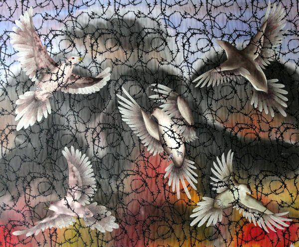 Mourning Doves; large
