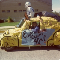 Fresman Float. Photo by Arlie Pittman, an IIS teacher who sponsored the float.