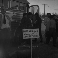 Bus to Fort Wingate, with Dr. Boyce.