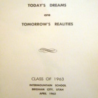 Class of 1963 Commencement Ceremony Program