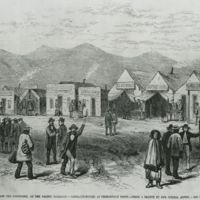 Lithograph of Promontory