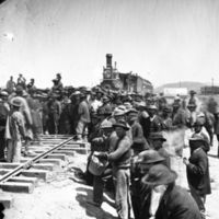 Chinese Workersr Laying the Last Rail